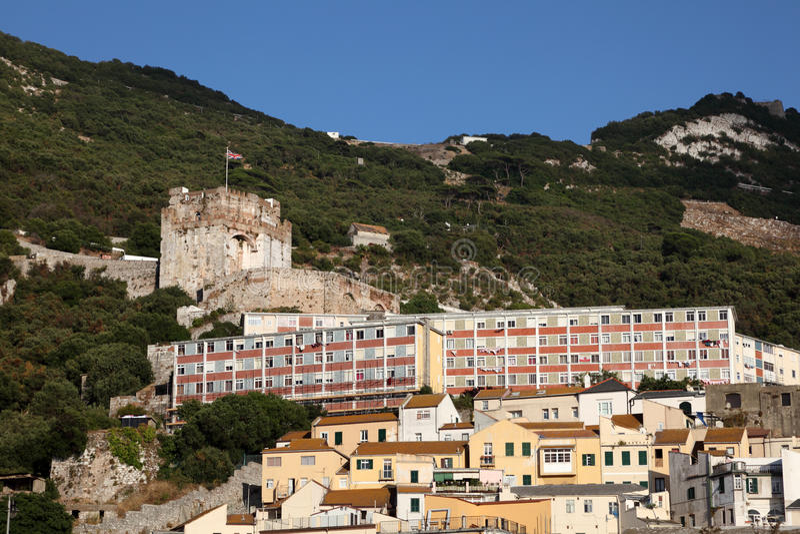 Castelo mouro em Gibraltar foto de stock royalty free