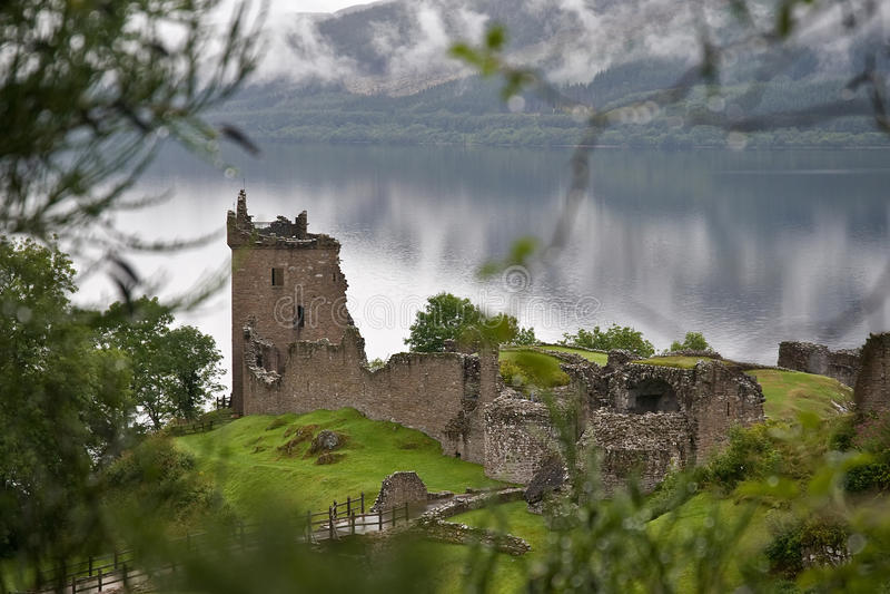 Castelo Mystical de Urquhart fotos de stock