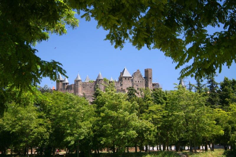 Castelo na floresta fotos de stock royalty free