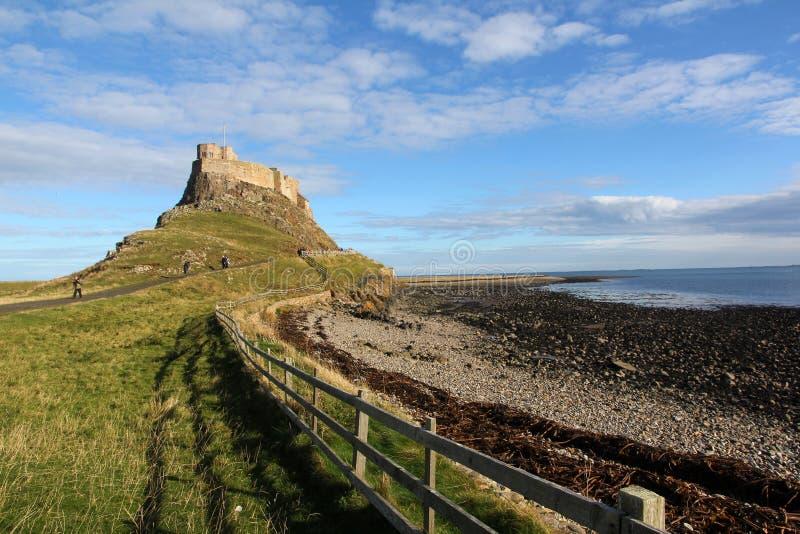 Castelo na ilha santamente fotografia de stock royalty free