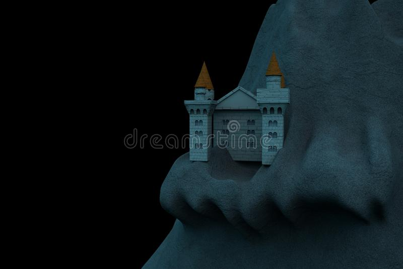 Castelo na noite ilustração do vetor