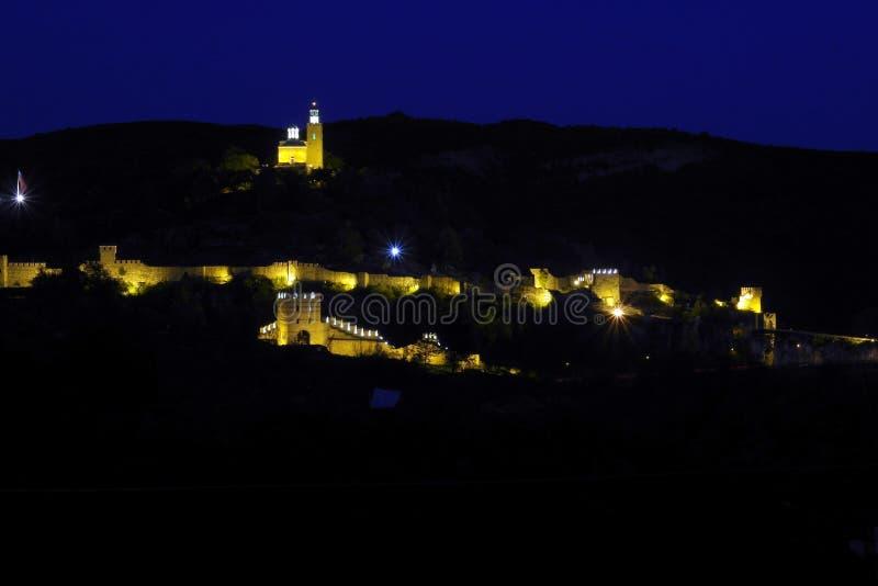 Castelo na noite imagens de stock