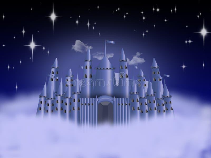 Castelo nas nuvens ilustração do vetor