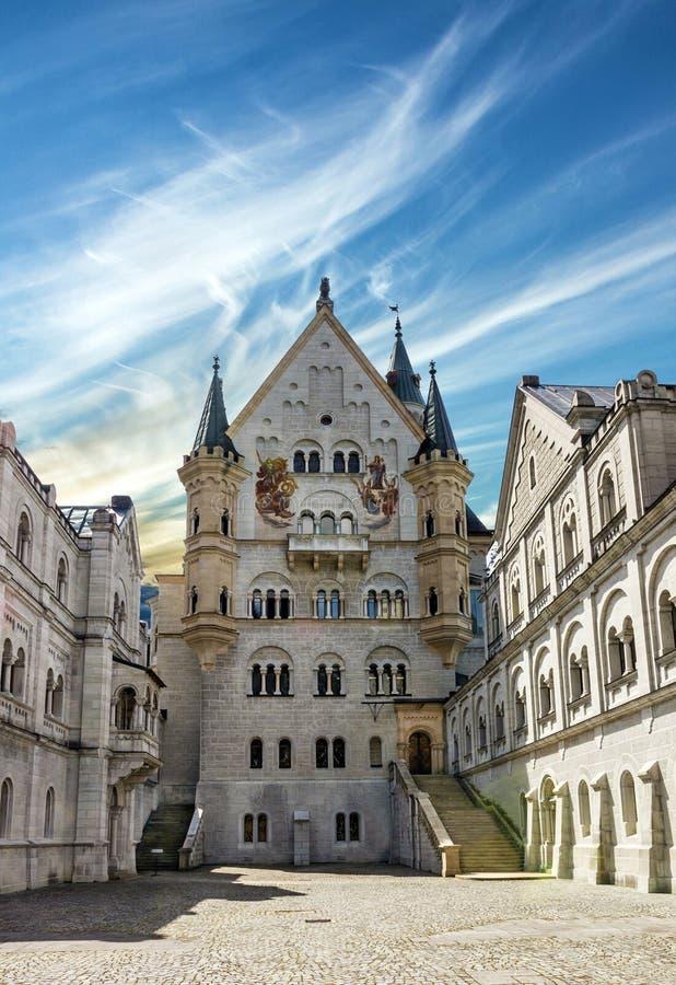 Castelo Neuschwanstein do palácio, Baviera, Alemanha imagens de stock