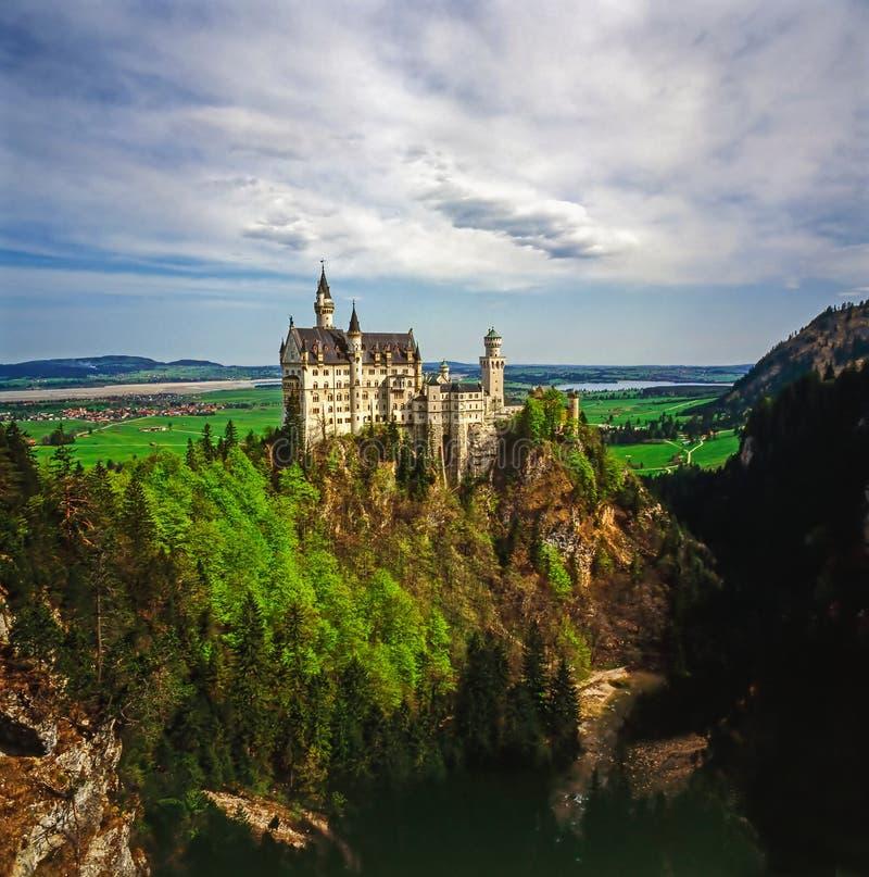 Castelo Neuschwanstein em Baviera, Alemanha foto de stock