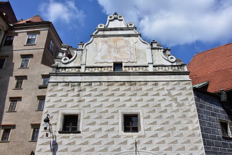 Castelo no ½ Krumlov de Ceskà foto de stock