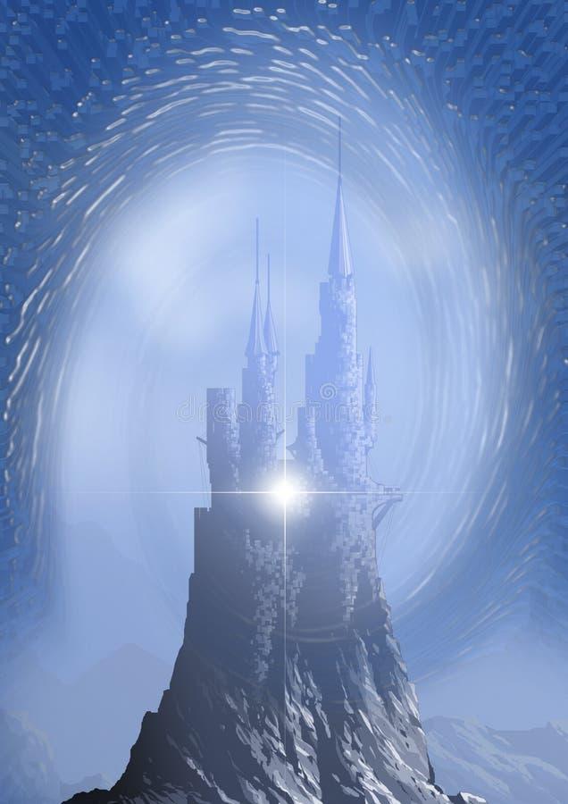 Castelo no céu ilustração royalty free