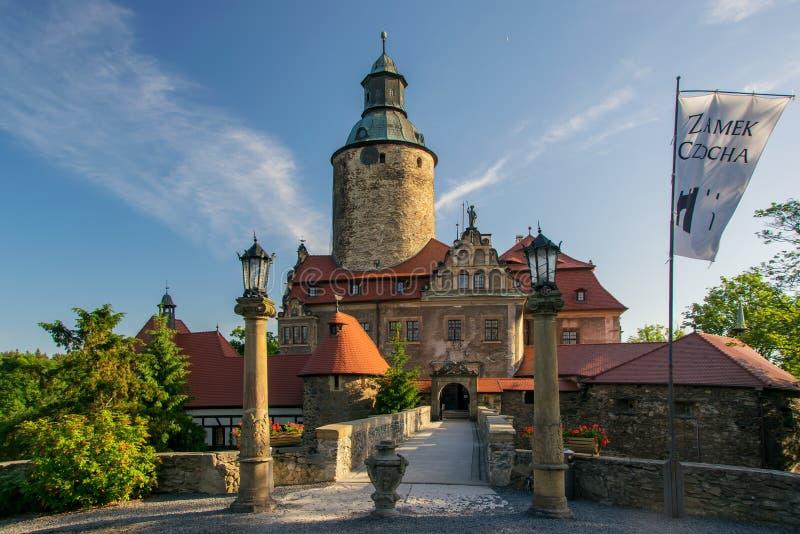 Castelo no dia de verão ensolarado, mais baixo Silesia de Czocha, Polônia fotos de stock royalty free