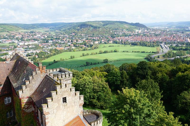 Castelo no hammelburg fotografia de stock royalty free