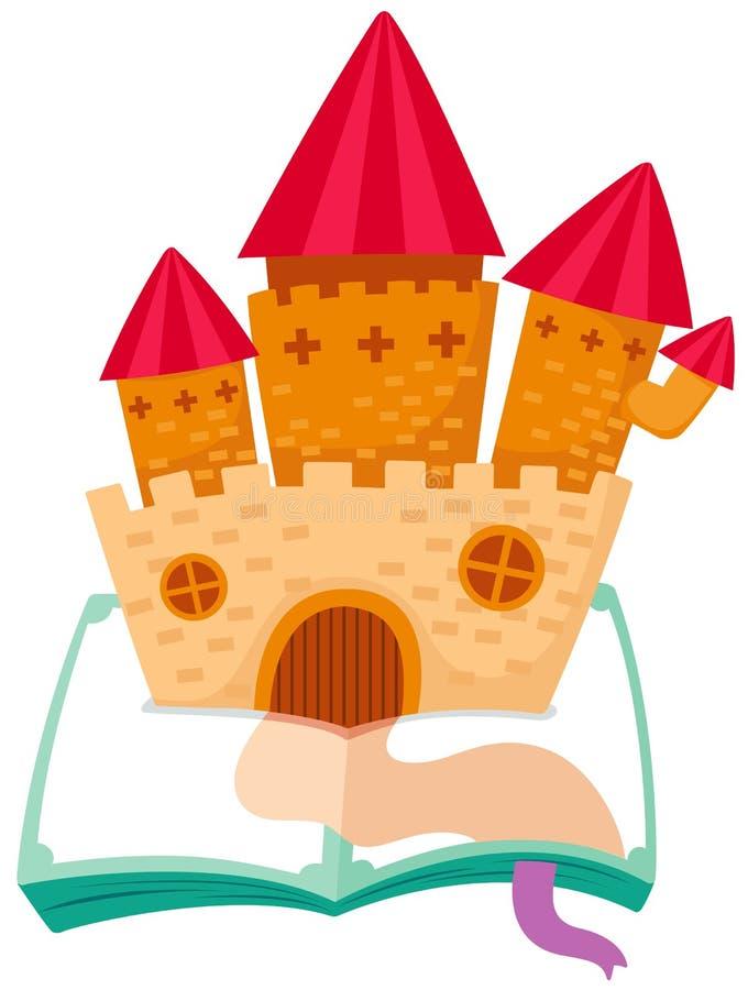 Castelo no livro ilustração royalty free