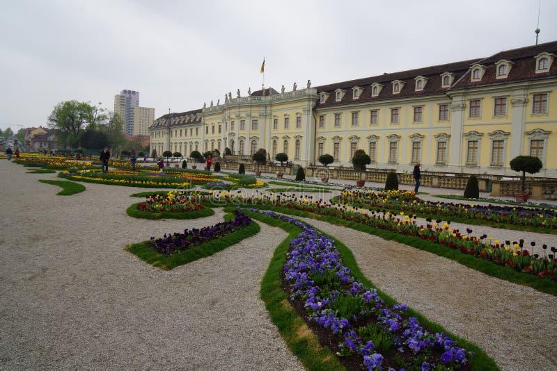 Castelo no ludwigsburg barroco fotografia de stock royalty free