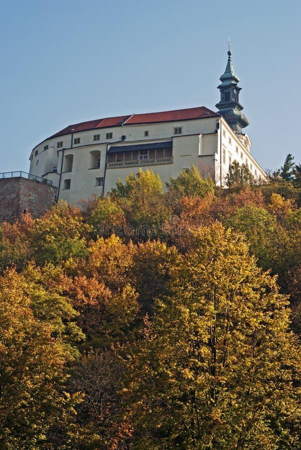 Castelo no outono, Slovakia de Nitra fotografia de stock royalty free