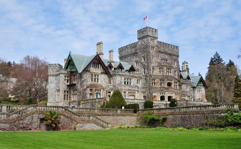 Castelo no parque do hatley foto de stock