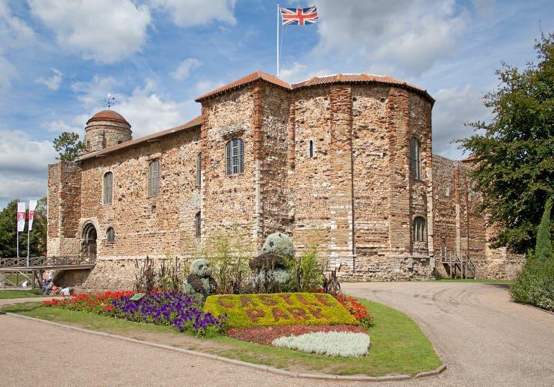 Castelo normando em Colchester imagens de stock royalty free