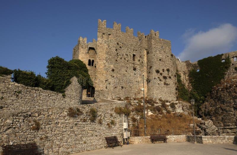 Castelo normando em Erice imagem de stock