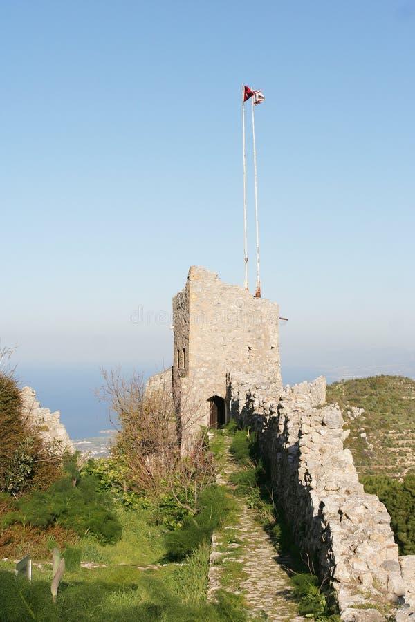 Castelo norte de Chipre imagens de stock