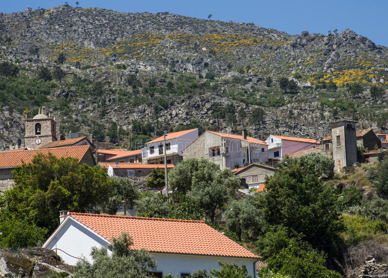 Castelo Novo village village on the foot of Serra da Estrela (Estrela Mounts) in Beira Baixa province, Portugal royalty free stock image