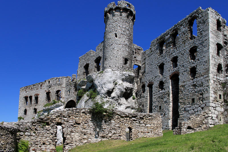Castelo Ogrodzieniec fotos de stock royalty free