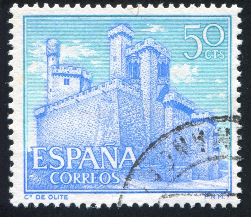 Castelo Olite imagem de stock royalty free