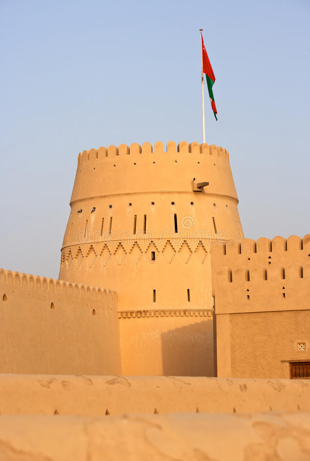 Castelo omanense foto de stock royalty free