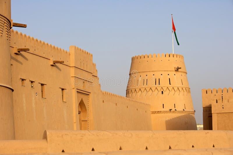 Castelo omanense fotografia de stock