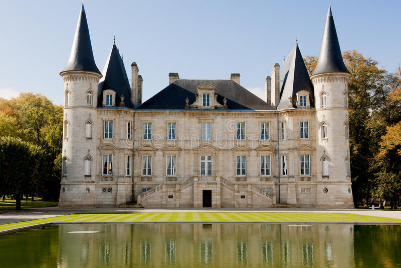 Castelo Pichon-Longueville foto de stock
