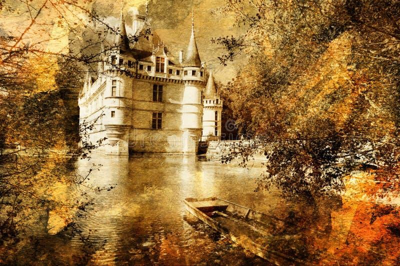 Castelo pictórico ilustração do vetor