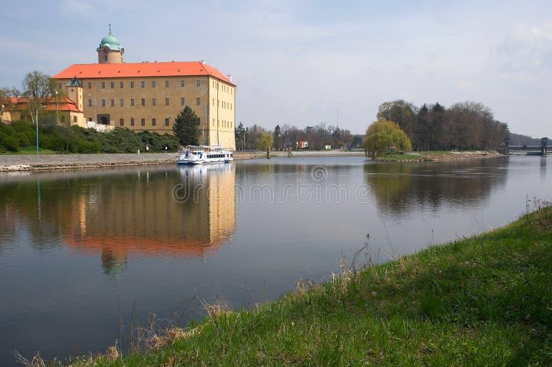 Castelo Podebrady, República Checa imagens de stock