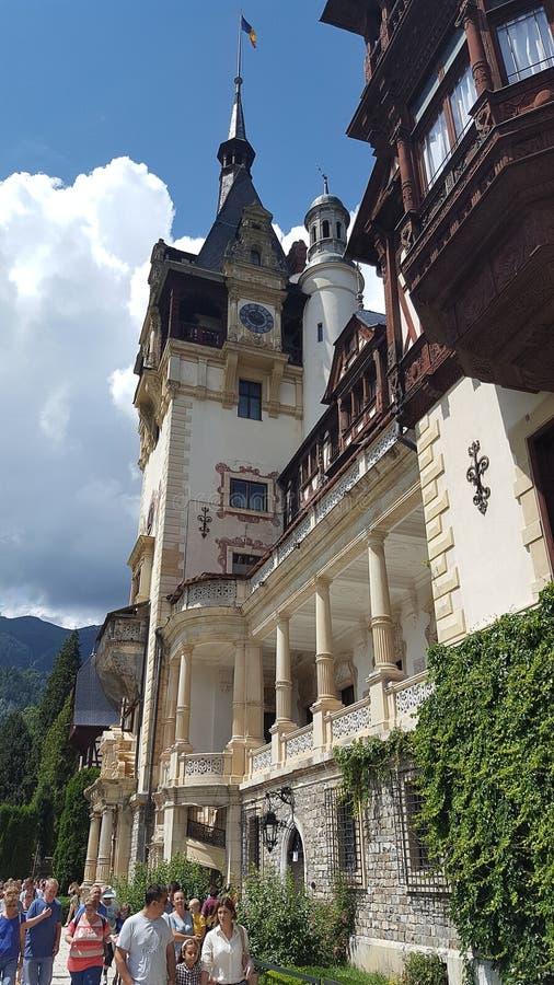 Castelo real famoso Peles em Sinaia, Romênia fotografia de stock