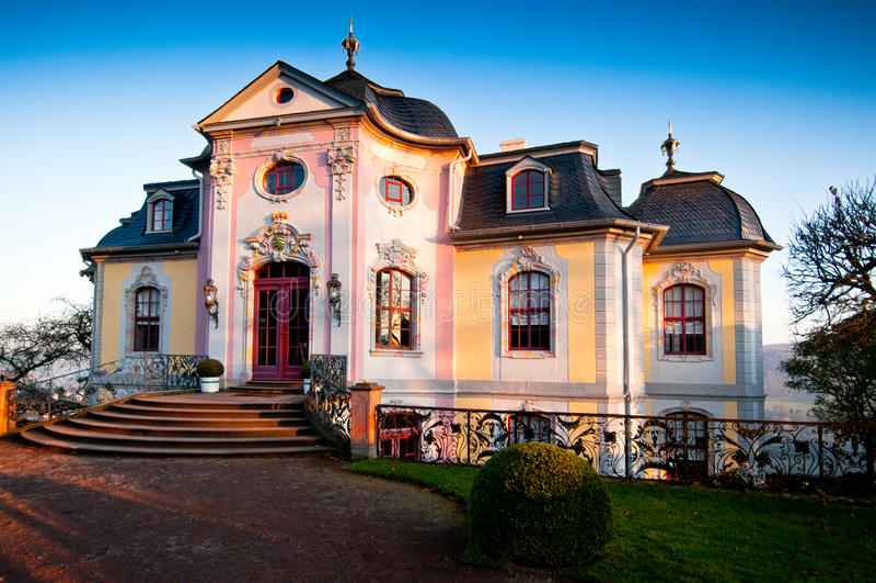 Castelo rococo de Dornburg em Alemanha central imagem de stock royalty free