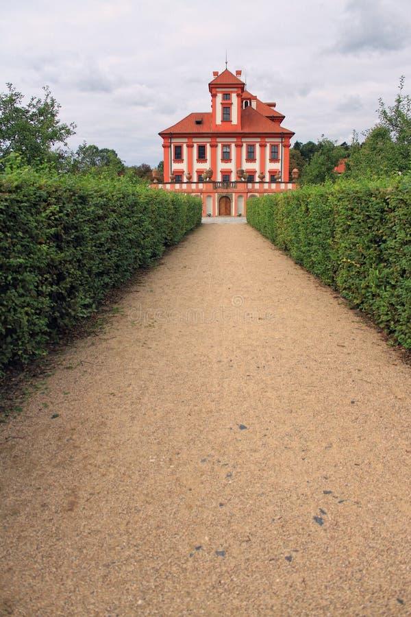 Castelo Romântico De Troja Fotografia de Stock