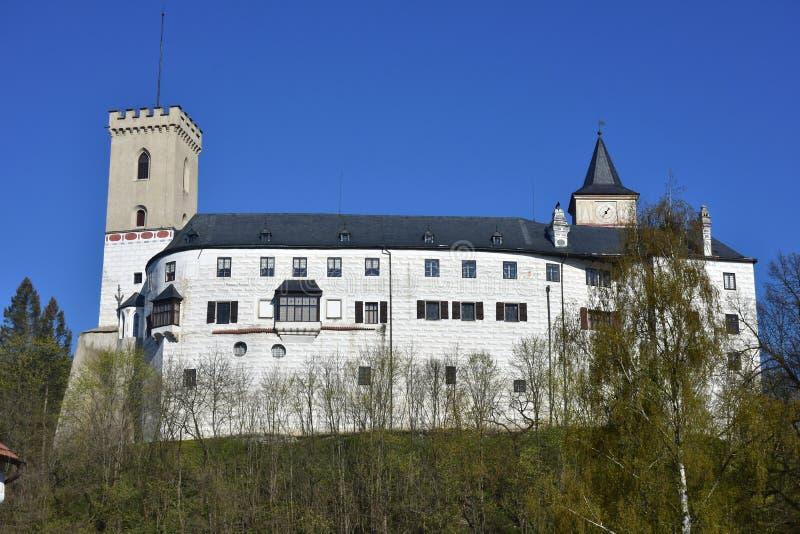 Castelo Rozmberk no sul da república checa imagem de stock