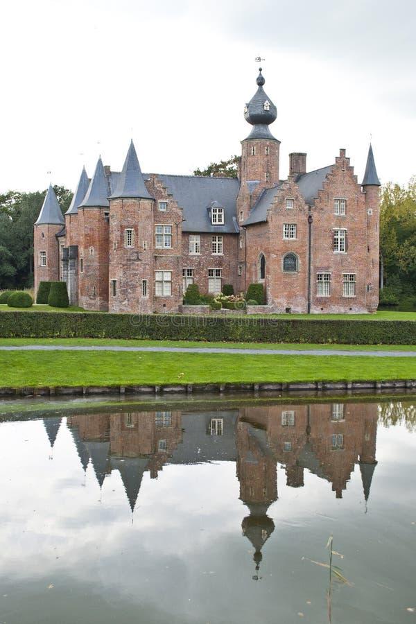 Castelo Rumbeke do renascimento foto de stock