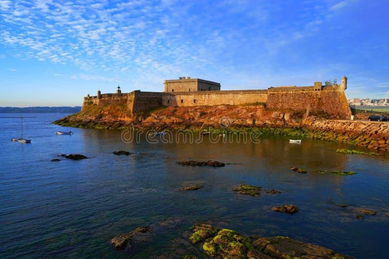 Castelo San Anton in La Coruna of Galicia Spain. Castelo de San Anton in La Coruna of Galicia Spain royalty free stock images