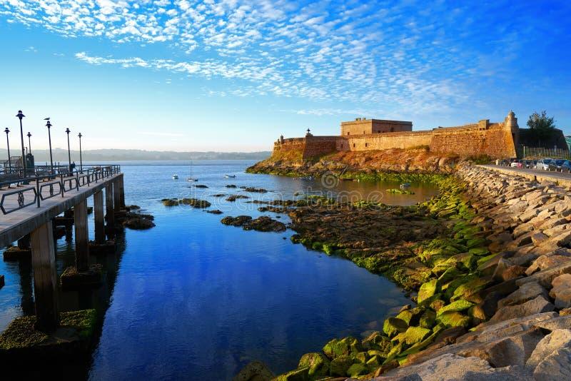 Castelo San Anton in La Coruna of Galicia Spain. Castelo de San Anton in La Coruna of Galicia Spain stock image