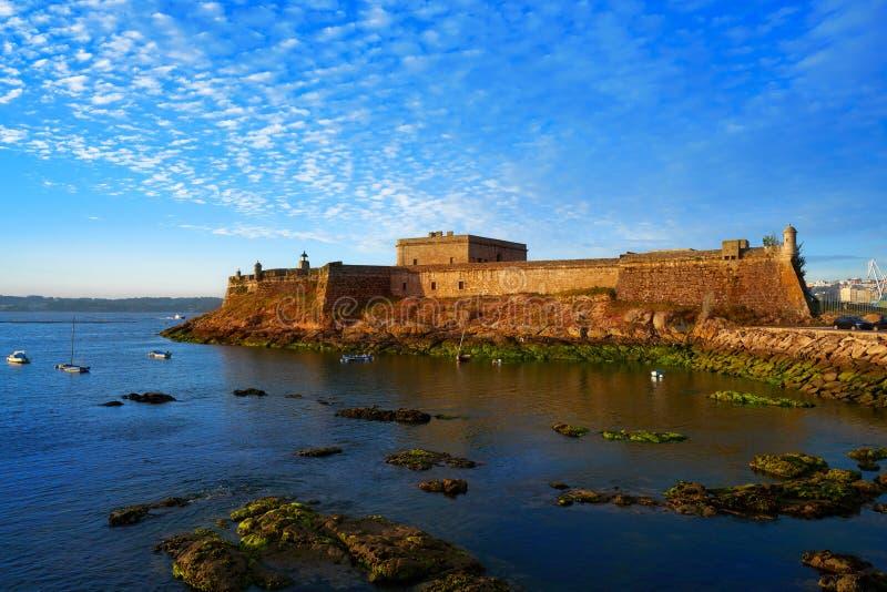 Castelo San Anton in La Coruna of Galicia Spain. Castelo de San Anton in La Coruna of Galicia Spain royalty free stock photography