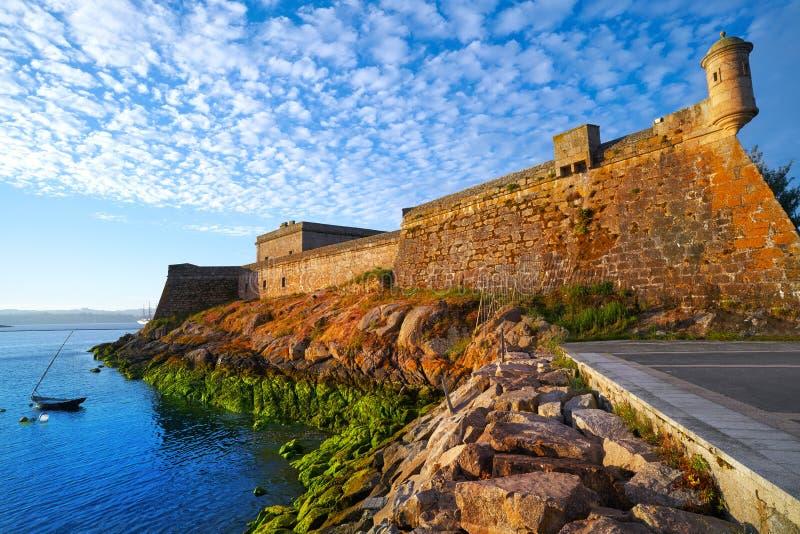 Castelo San Anton in La Coruna of Galicia Spain. Castelo de San Anton in La Coruna of Galicia Spain royalty free stock image