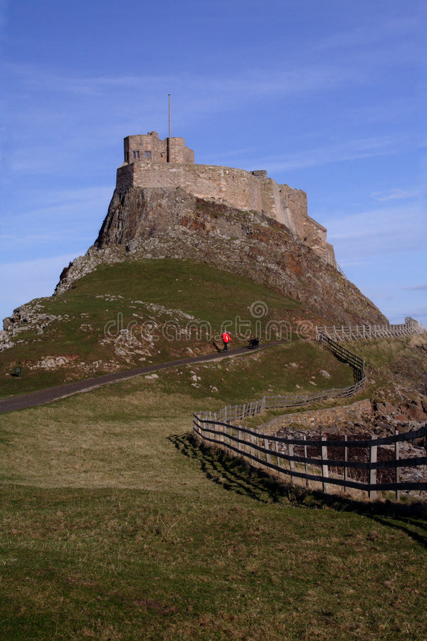 Castelo santamente Northumberland Inglaterra do console fotografia de stock royalty free