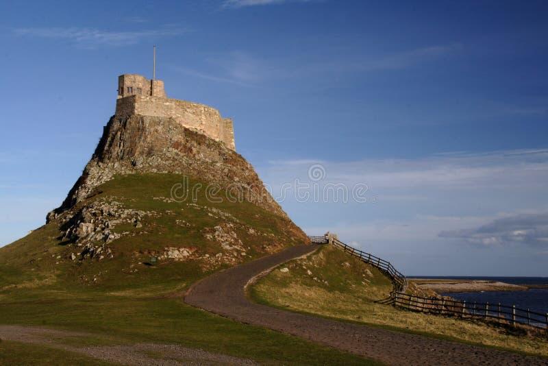 Castelo santamente Northumberland Inglaterra do console fotos de stock royalty free