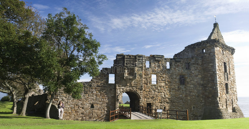 Castelo Scotland do St Andrews fotografia de stock