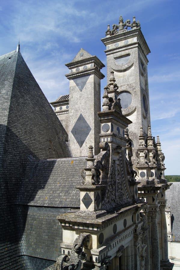 Castelo Shambor em França em agosto em 2015 imagens de stock