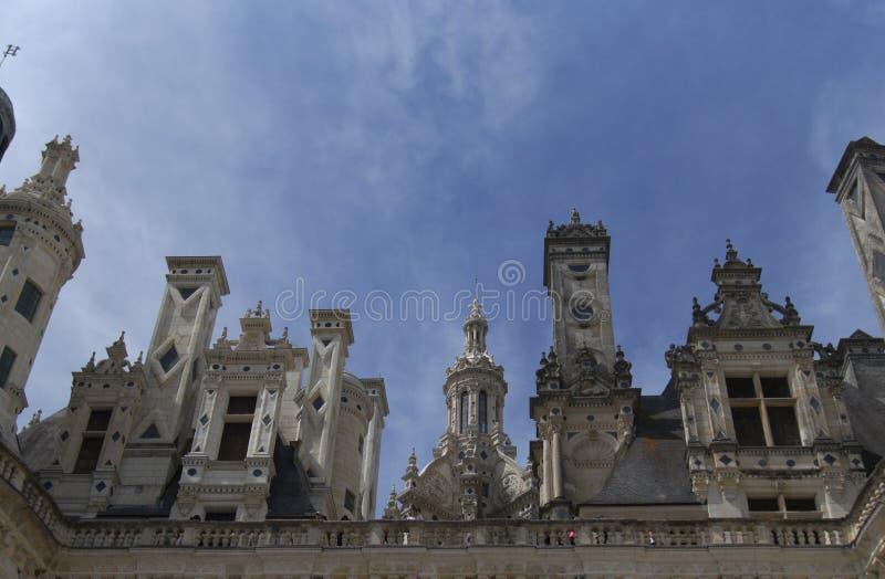 Castelo Shambor em França em agosto em 2015 foto de stock royalty free