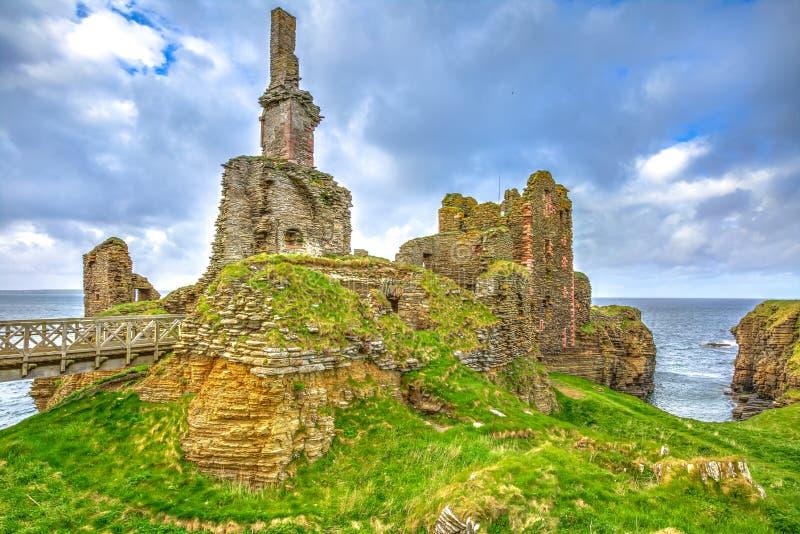 Castelo Sinclair Girnigoe foto de stock