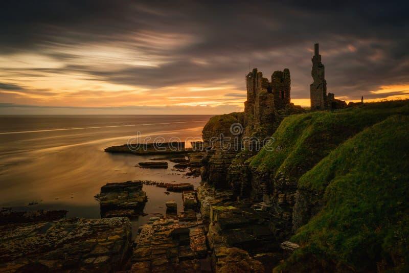 Castelo Sinclair Girnigoe fotografia de stock royalty free