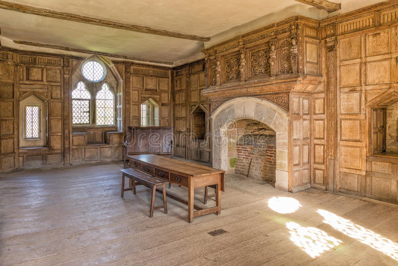 Castelo solar, Shropshire de Stokesay, Inglaterra imagens de stock royalty free