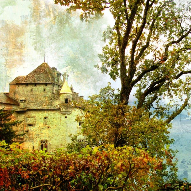 Castelo sombrio imagens de stock royalty free