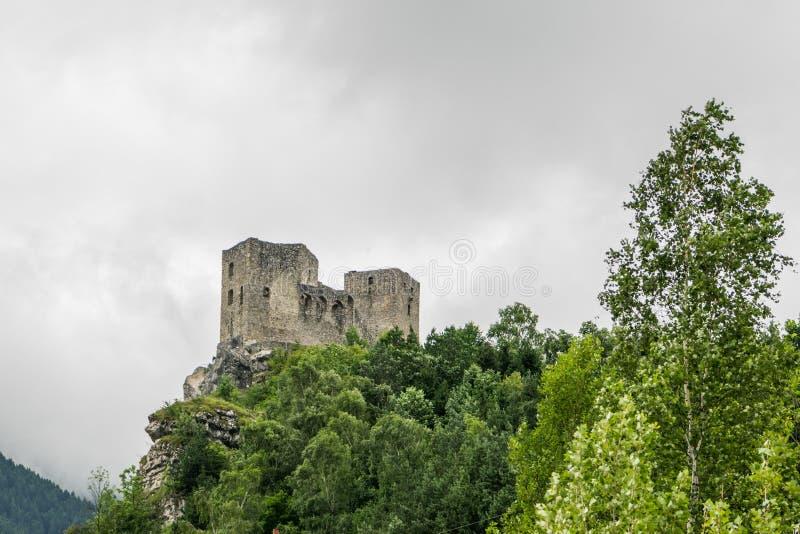Castelo Strecno foto de stock royalty free