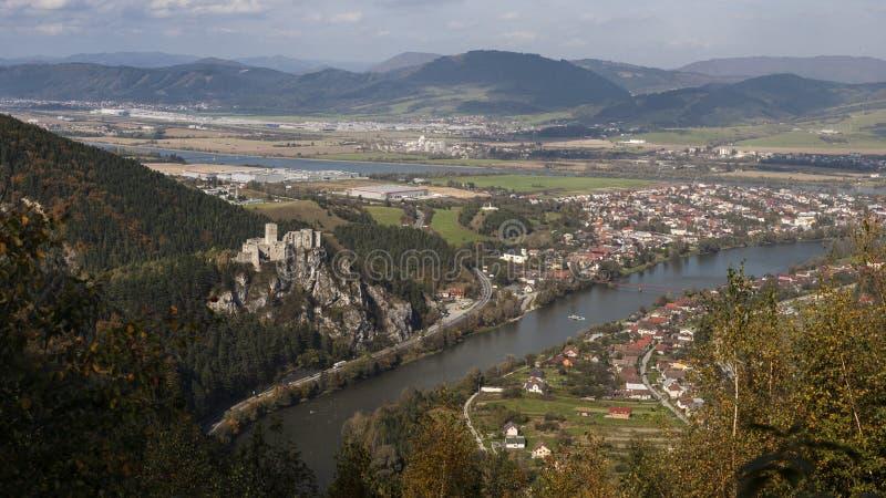 Castelo Strecno, Zilina, Eslováquia imagens de stock royalty free