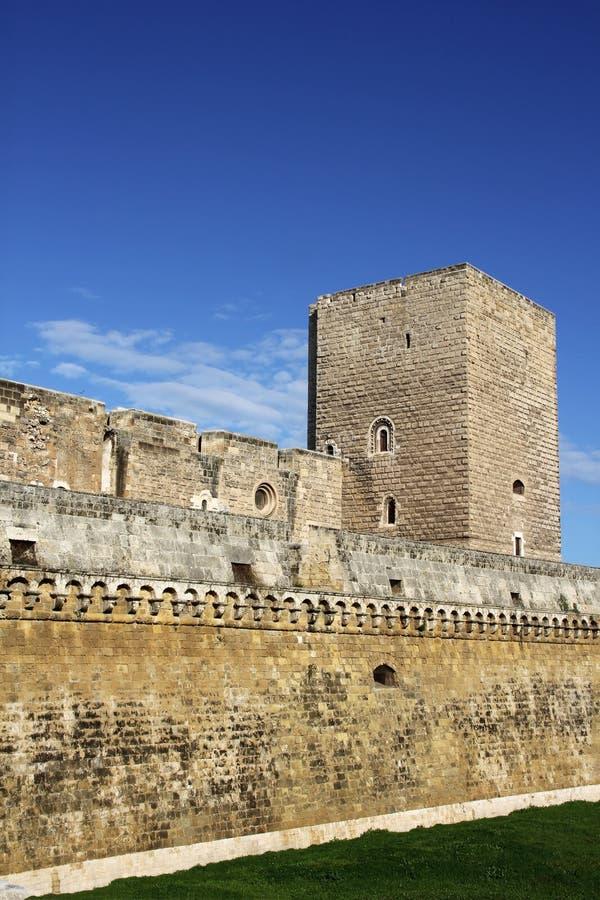 Castelo Swabian, Bari, Itália, fotografia de stock