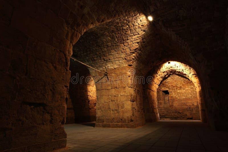 Castelo templar do cavaleiro do acre, foto de stock royalty free
